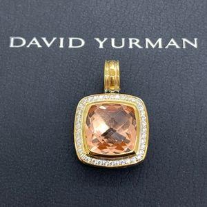 David Yurman 925 18K 14mm Morganite Pendant